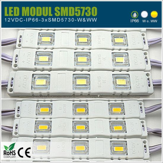 SMD5730 LED-Modul 12V IP65 - W & WW